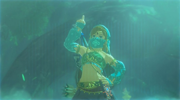 That's a cross dressing Link taking a selfie. Oh how far we have come.